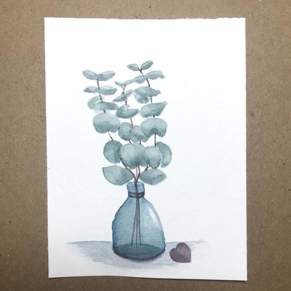 Eukalyptus im Glas