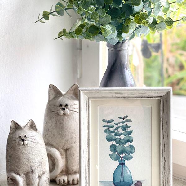 Eukalyptus im Glas - gerahmt