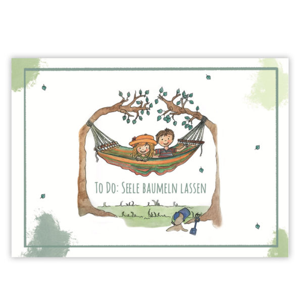Postkarte Seele baumeln