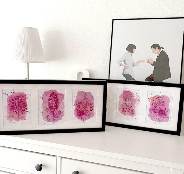 trees go pink - gerahmt