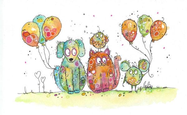 Happy Painting! Hund Katze Maus und Pieps