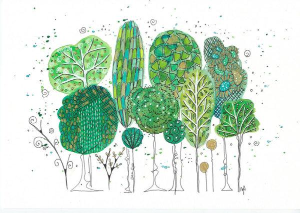 Happy Bäume