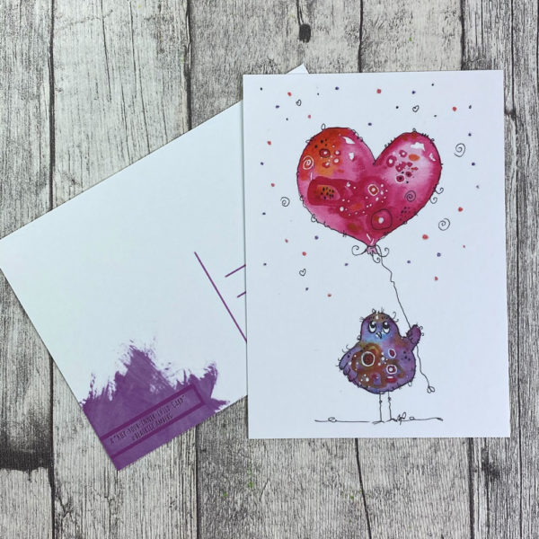 Piepmatz mit Herzballon
