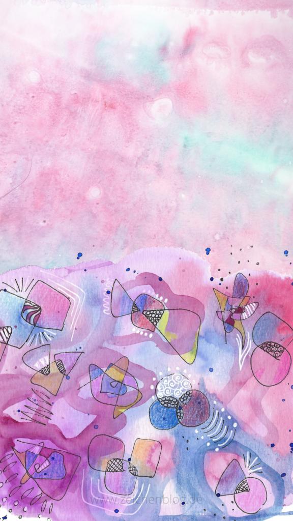 smartphone background freebie abstrakt pink