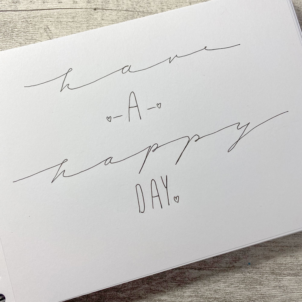 Lettering Happy Day