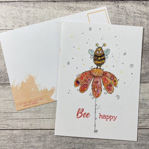 Postkarte Bee Happy