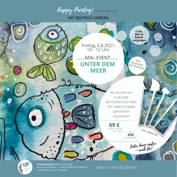 Mal-Event Happy Painting! Unter dem Meer